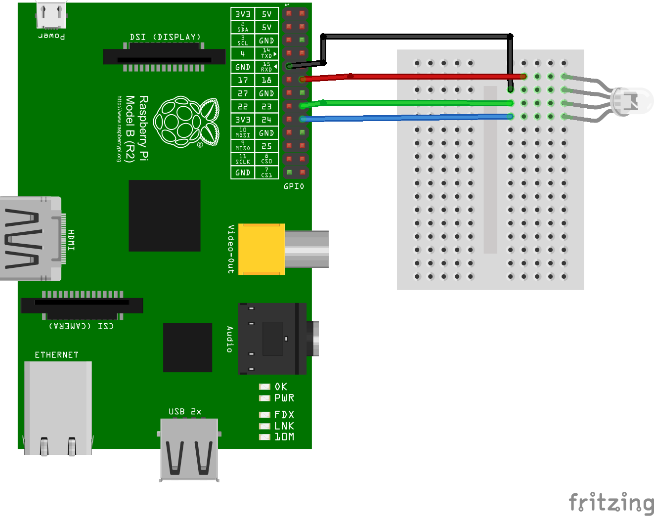 Rgb Led Pwm Raspberrypi Tasty Java Circuit This Picture Gives Some Insight About How To Connect